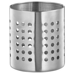 Utensil holder, stainless steel
